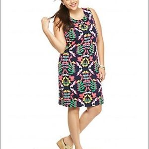 Crown & Ivy Plus Size Dragon fly Printed Dress